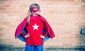 Little Girl Superhero